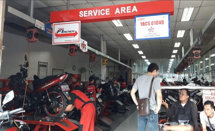 Service Area Dealer Yamaha Jakarta