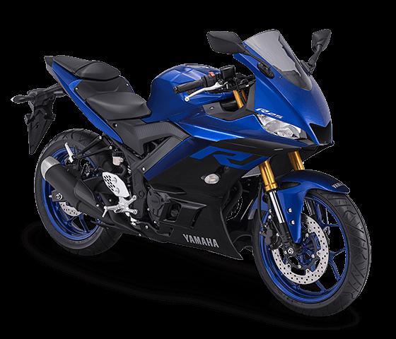 Yamaha R25 terbaru biru