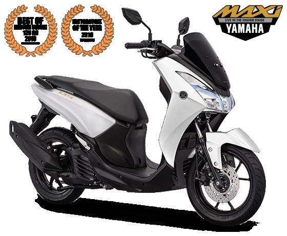 Yamaha Lexi Gold Emblem White